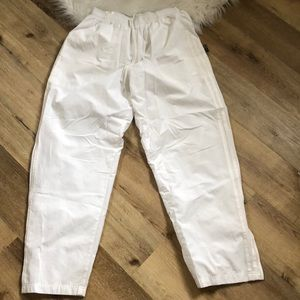 White Adidas Trackpants, Size L